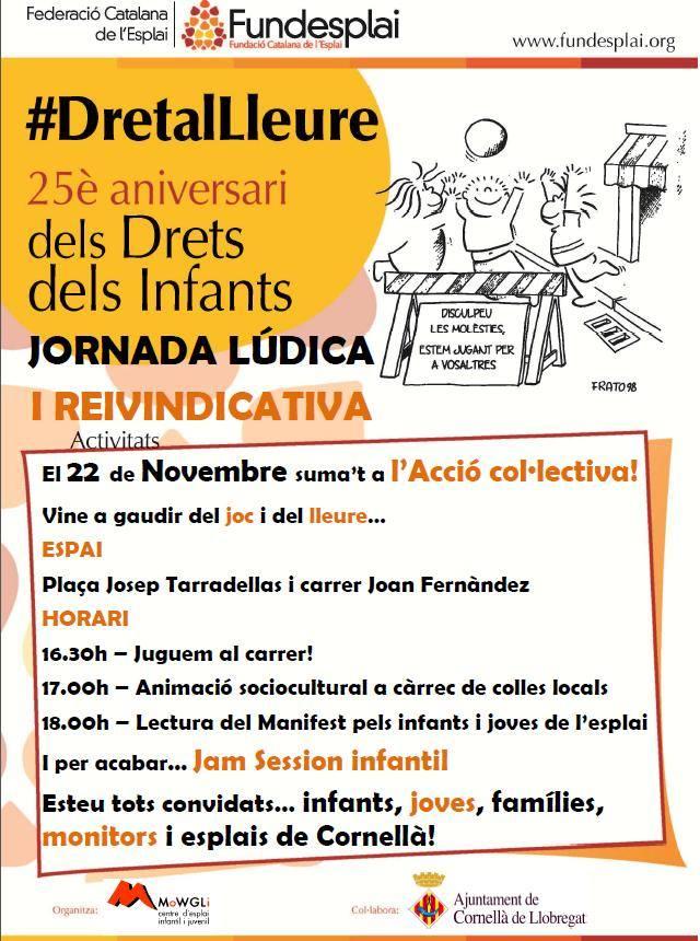 L'Esplai Mowgli a la Plaça Tarradellas i al carrer Joan Fernandez de Cornellà de Llobregat!
