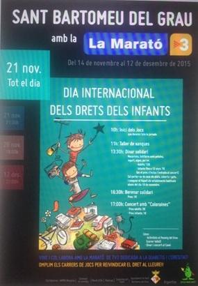 A Sant Bartomeu del Grau celebrem els drets de l'infant!