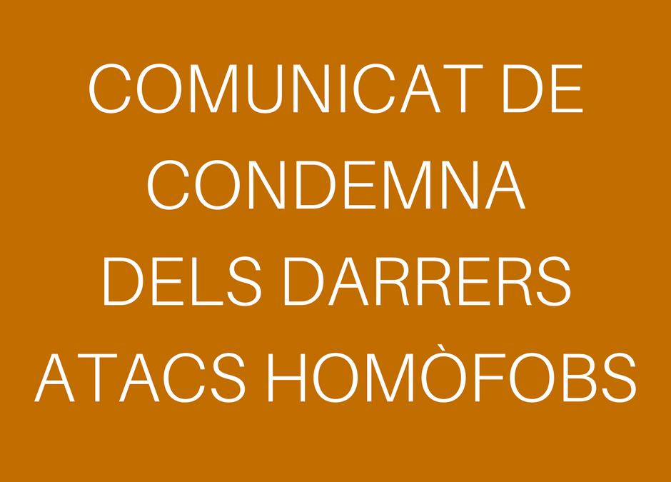 Comunicat de la Federació Catalana de l'Esplai en condemna dels darrers actes homòfobs