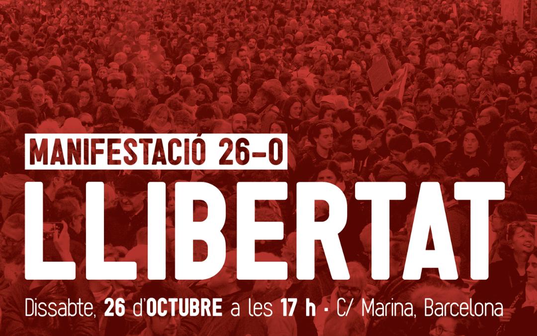 Des de la Federació ens adherim a la manifestació convocada per al proper dissabte 26 d'octubre