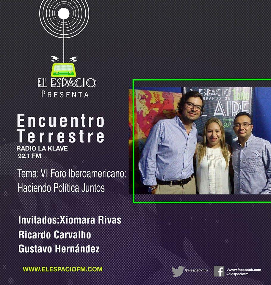 Ricardo Carvalho , Xiomara Rivas y Gustavo Hernández, entrevistados en vivo en la radio