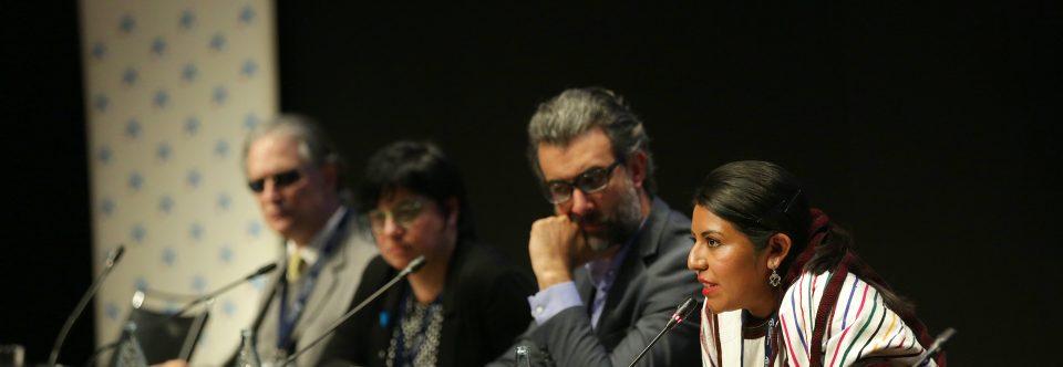 La Sra. Tania Martínez Cruz joven mixe presente en el VIII Foro Iberoamericano, alentó a los y las jóvenes a seguir sus sueños