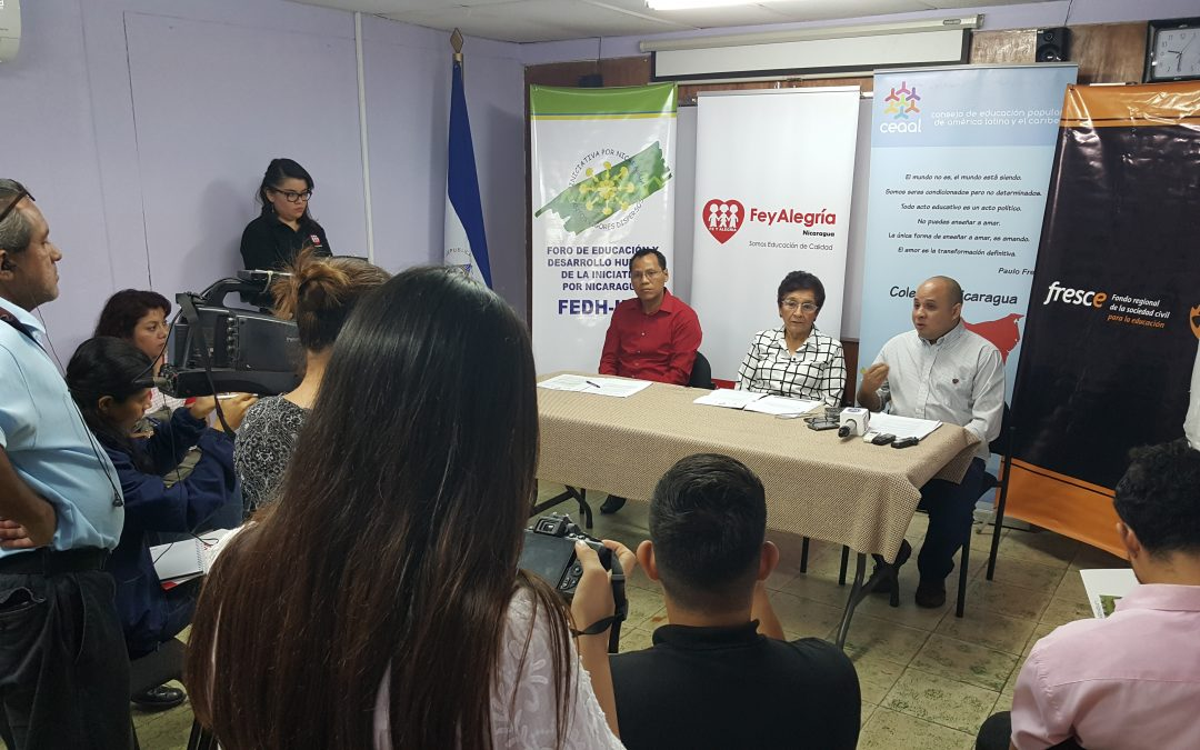 Organizaciones educativas piden más recursos para la Educación en Nicaragua
