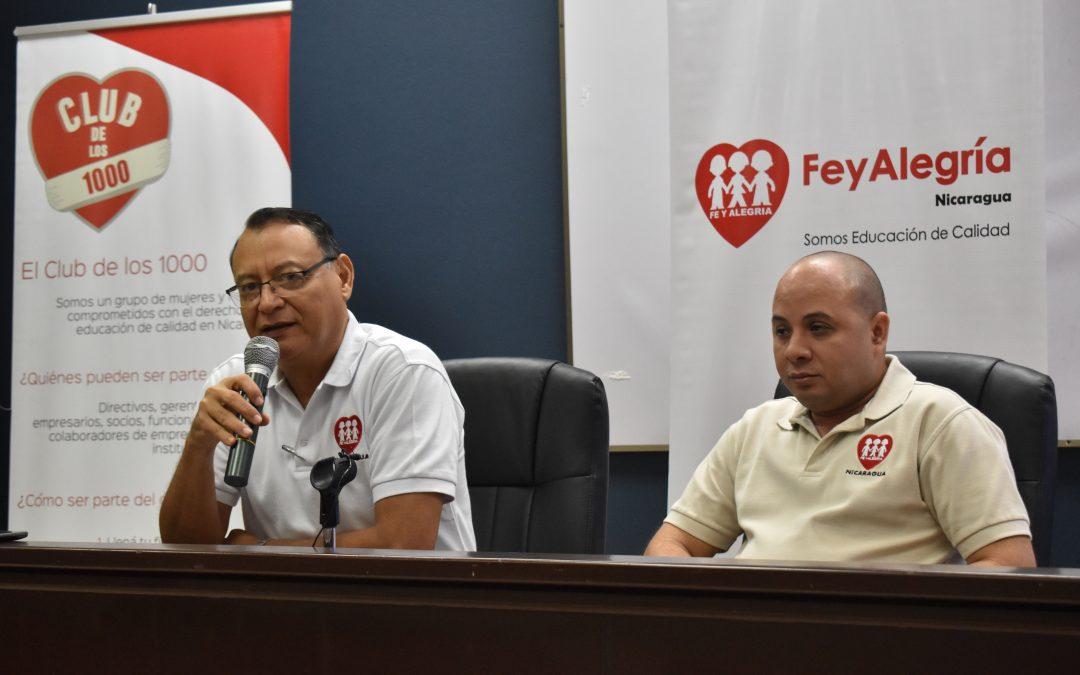 """Fe y Alegría Nicaragua y FDL impulsan la campaña """"El club de los 1000"""", a beneficio de la educación en Nicaragua"""