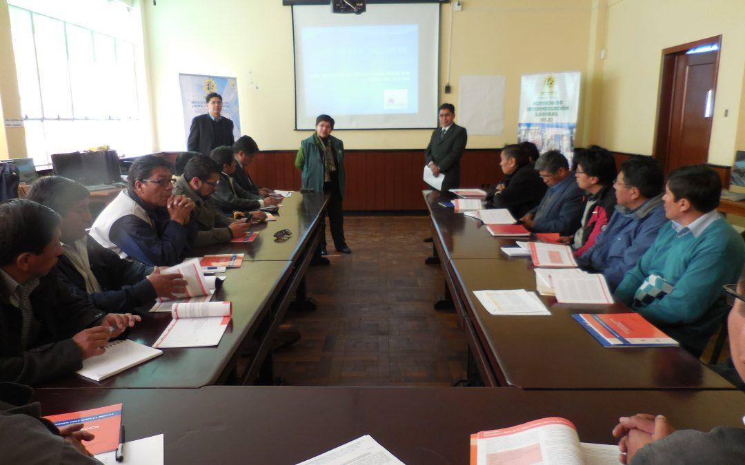 Talleres sobre «Introducción al emprendimiento», Bolivia