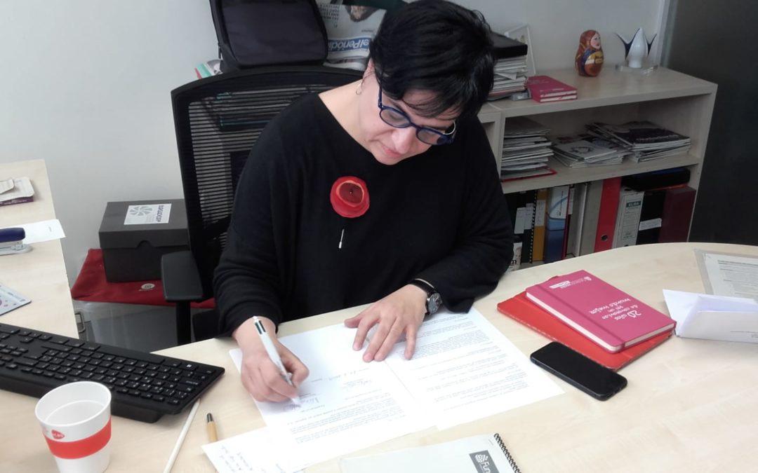 La Liga Iberoamericana firma acuerdo marco de cooperación con FUNDACION EU-LAC