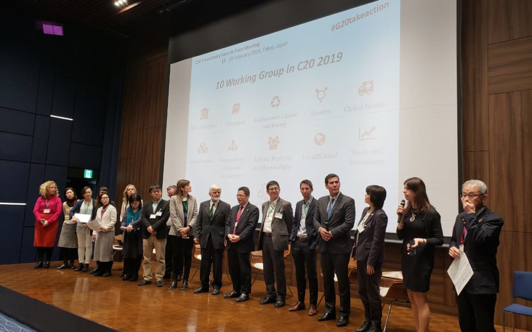 Días 18 y 19  de febrero, encuentro presencial del C-20 en Tokio, La Liga Iberoamericana coordinando 2 «Working Groups»