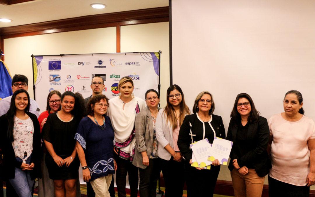 Oikos de Portugal y Fe y Alegría de El Salvador, parte de la Plataforma por la Seguridad Ciudadana, entregan una propuesta de Política Pública