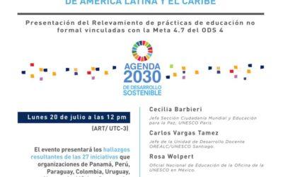 Webinar sobre educación en la agenda 2030,  20 de julio!!! NOTA EN LA AGENDA