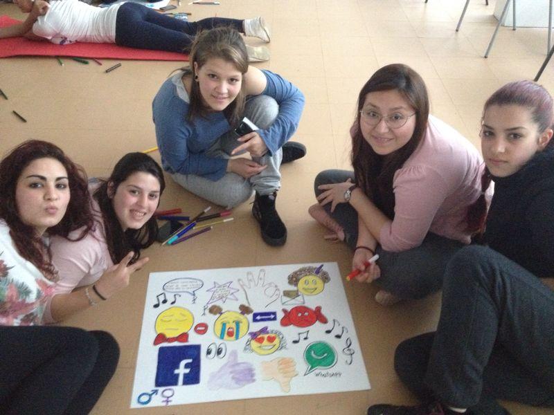 Joves TRESCA en una de les sessions formatives