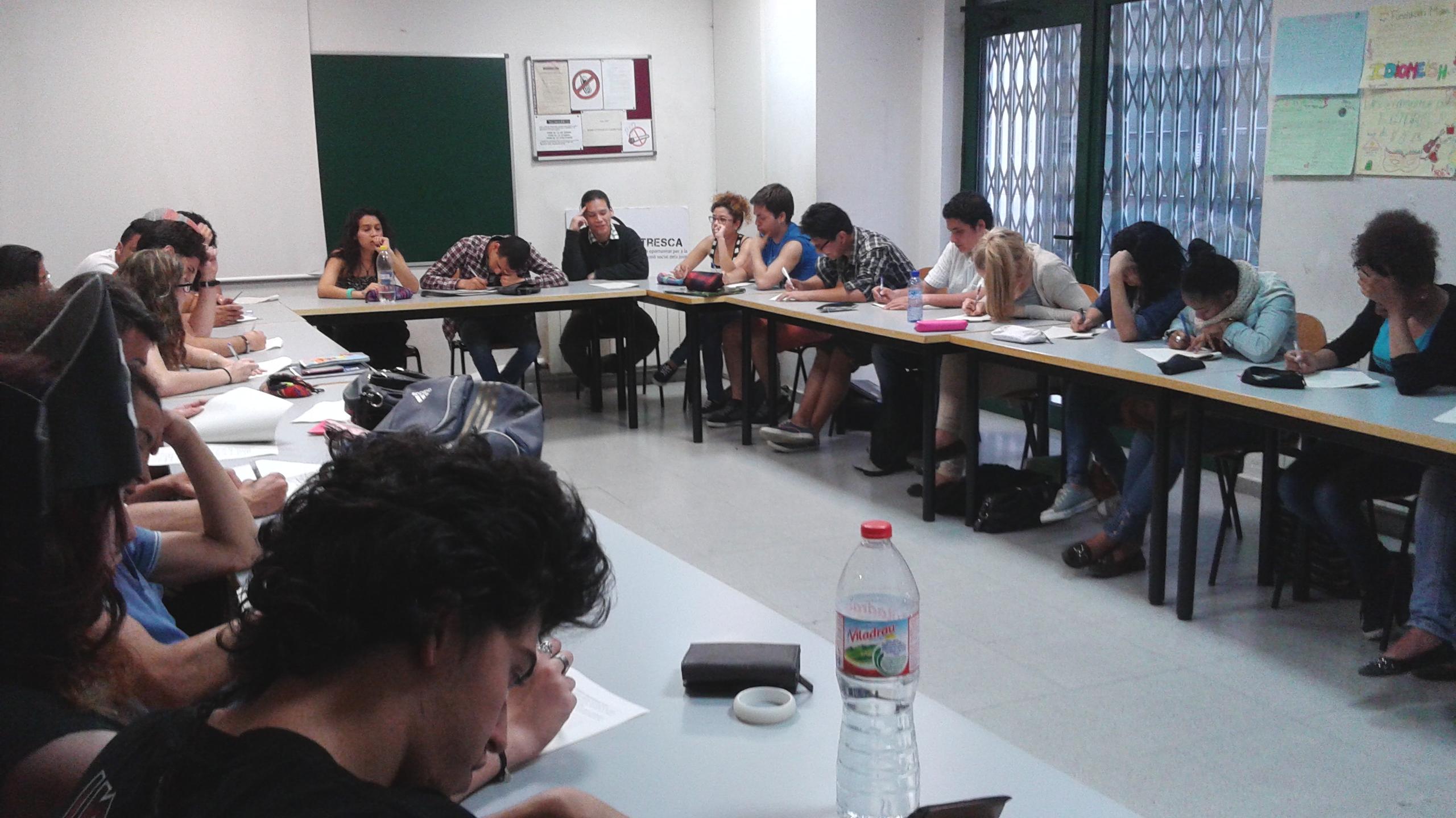 Examen en el marc del desenvolupament de la formació